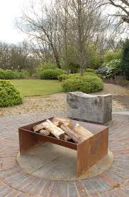 Contemporary Firepit Chunk Pit A More Contemporary Solid Firepit In 5mm Steel A