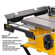 dewalt table saw rip fence extension dewalt dw7441 out feed and side support for table saw blackrock