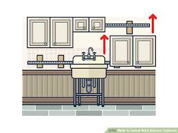 Cabinets Ikea Kitchen How To Install Ikea Kitchen Cabinets With Pictures Wikihow
