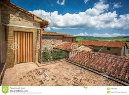 brick balcony at old house in tuscany stock photo image 41492285