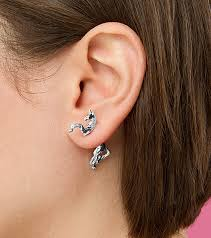 front and back earrings unicorn earrings thinkgeek