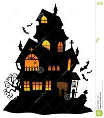 halloween house clipart haunted house silhouette theme image 1 stock vector image 75183192