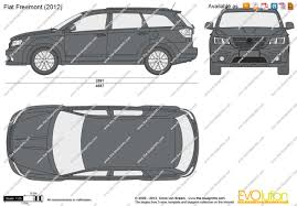 fiat freemont the blueprints com vector drawing fiat freemont