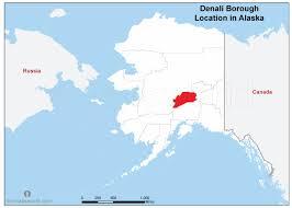 alaska on map denali borough location map alaska emapsworld com