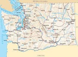 Washington rivers images Washington map map of washington gif