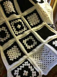 free pattern granny square afghan beautiful black and white granny square finally done granny