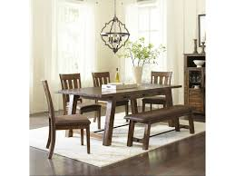 trestle dining table with bench jofran cannon valley trestle dining table and chair bench set