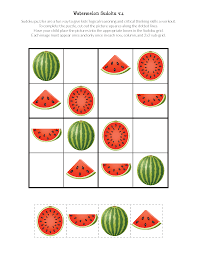 thanksgiving puzzles for adults watermelon sudoku puzzles free printables gift of curiosity