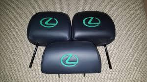 lexus es300 logo il headrest with hand stitched lexus logo for sale clublexus