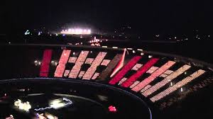 charlotte motor speedway christmas lights 2017 largest display ever at speedway in lights youtube