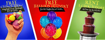 free balloon delivery partyshop malaysia we bring smiles to your loved ones