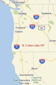 map of oregon near crater lake crater lake national park oregon cycling the june 24 2005