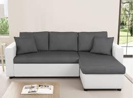 canapé angle gris blanc canapé d angle réversible et convertible avec coffre gris