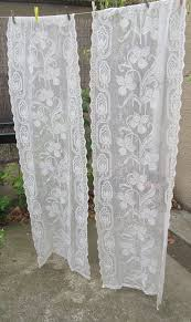 Antique Lace Curtains Ecru Vintage Lace Curtains Curtains Lace Curtain
