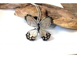 real butterfly necklace images Transparent butterfly necklace glasswing butterfly real jpg