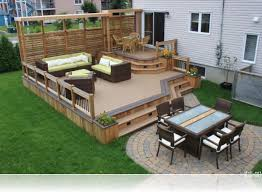 Dream Decks by Columbus Dream Backyard With Deck Patio Outdoor Stove Amys Office