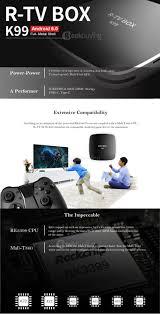 r tv box k99 rockchip rk3399 hexa core 64bit tv box android 6 0 4g
