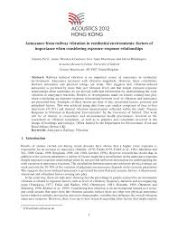 Sho Nr Kur annoyance from railway vibration in residential environments