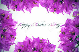 Mothers Day Flowers Happy Mothers Day Written On A Background With Purple Flowers