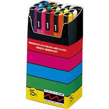 amazon com uni posca paint marker pen fine point set of 15