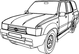 cartoon cars coloring pages 4 runner jeep car coloring page wecoloringpage