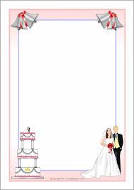 wedding borders royal wedding a4 page borders sb4577 sparklebox