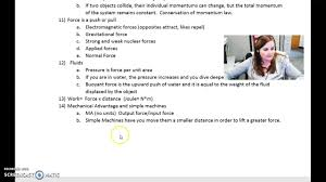 wca physical science semester 2 exam review part 2 youtube