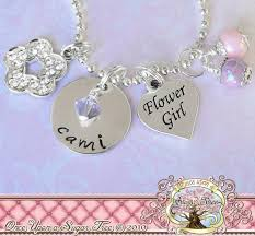 personalization wedding gifts personalized wedding gift flower girl charm necklace personalized