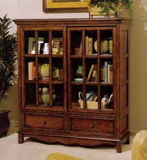 Oak Bookcases With Glass Doors Effortless Installation Bookcases With Glass Doors Jen Joes Design