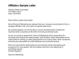 Affiliation Examples For Resumes by Letter Of Affiliation