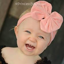 headband with bow coral fabric hair bow baby headband for
