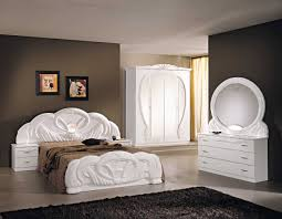 White High Gloss Bedroom Furniture Sets Chambre Complete Giada Comprenant Armoire 2 Portes Lit 160x200