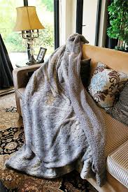 Faux Fur King Size Blanket Blanket Super Soft And Cozy Tache 50 X 60 Inch Snow Giraffe Faux
