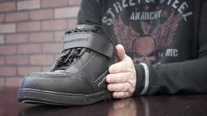 motorcycle street riding boots street and steel big easy riding shoes youtube