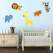 safari animal wall stickers by mirrorin notonthehighstreet com safari animal wall stickers