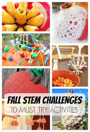 fall science activities fall stem challenges for kids activities