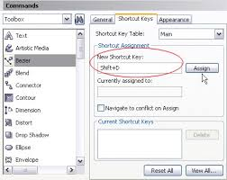 corel draw x4 blend tool creating custom keyboard short cuts in coreldraw knowledge base