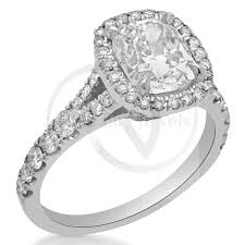 cushion cut split shank engagement rings cut split shank micro pave engagement ring with halo c34