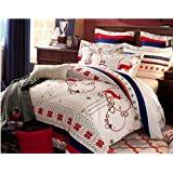 amazon com whimsical country snowman christmas holiday bedding