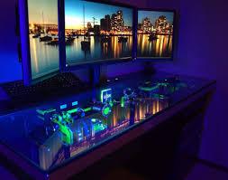 gaming computer desk desk ynenv amazing custom gaming desk glass gaming desk project