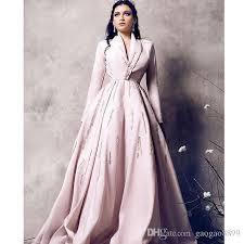 2017 light pink beaded long sleeve evening formal gowns women u0027s