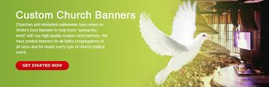 church event banners home
