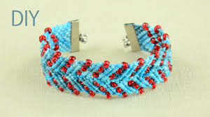 bracelet design beads images Chevron design bracelet with beads tutorial jpg