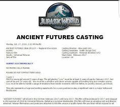 Casting Assistant Jurassic World 2 Confirmado Un Nuevo Personaje Mas Información