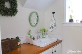 powder room refresh with pops of green lehman lane