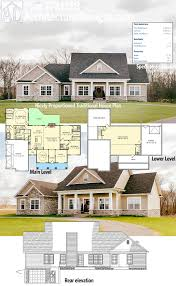 Cottage Plans With Garage Architectural Designs 3 Bed Traditional House Plan Has Classic