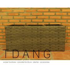 Square Plastic Planters by Tdang Furniture Morden High Square Flat Wicker Pot With Plastic Pots