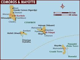 map comoros map of comoros mayotte