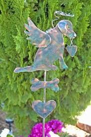 Sheet Metal Garden Art - golden retriever garden art pet memorial garden stake metal