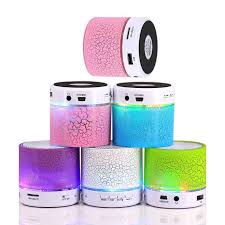 portable speaker with lights new led mini bluetooth speaker yz 08 tf usb fm wireless portable